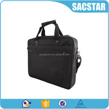 wholesale padded polyester and leather laptop bag 15inch computer bag