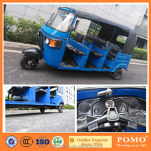 2016 Tuk Tuk BAJAJ India Spare Parts China Competitive Price Improved 7 Seat Passengers Bajaj Tricycle