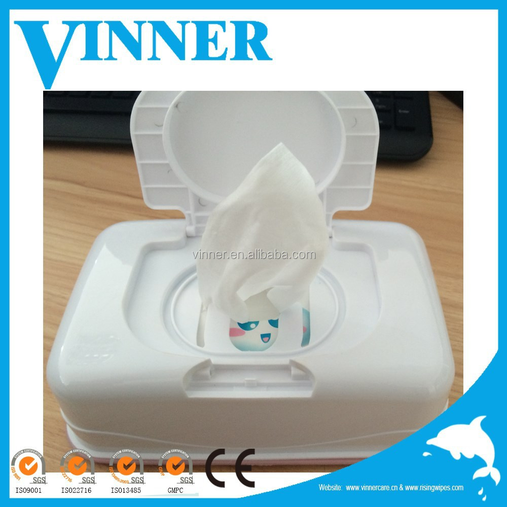 Plastic canister wet wipe antibacterial baby wipe box mini wet wipe tub OEM wholesale canister wipe