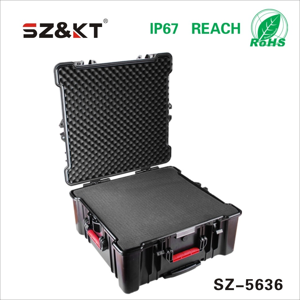 Hard Safety Plastic equipment cases with foam