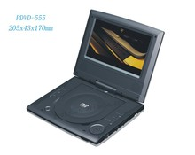 "7"" LED panel PDVD-555 Rechargeable DVD Player"
