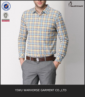 Hot selling plaid party wear shirts for men