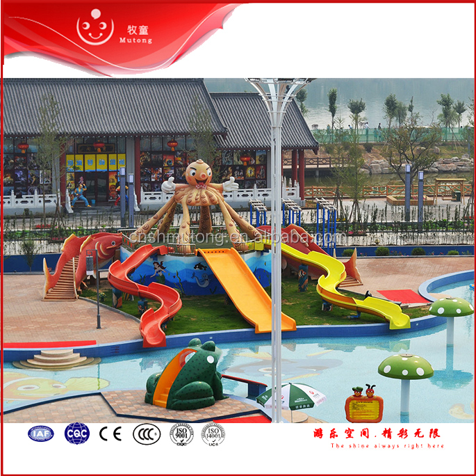 Hot Quantity Water Slide Equipment Spiral Water Freefall Open Water Slide For Sale