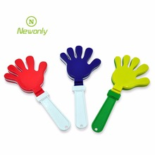 Customized logo Sport fans cheering toy plastic PP noise maker hand clapper