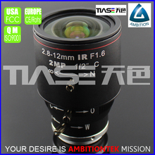 "2mega pixel varifocal length 2.8-12mm F1.6 for 1/2"" sensor Indoor mini bullet camera lens snake camera manual iris c mount lens"