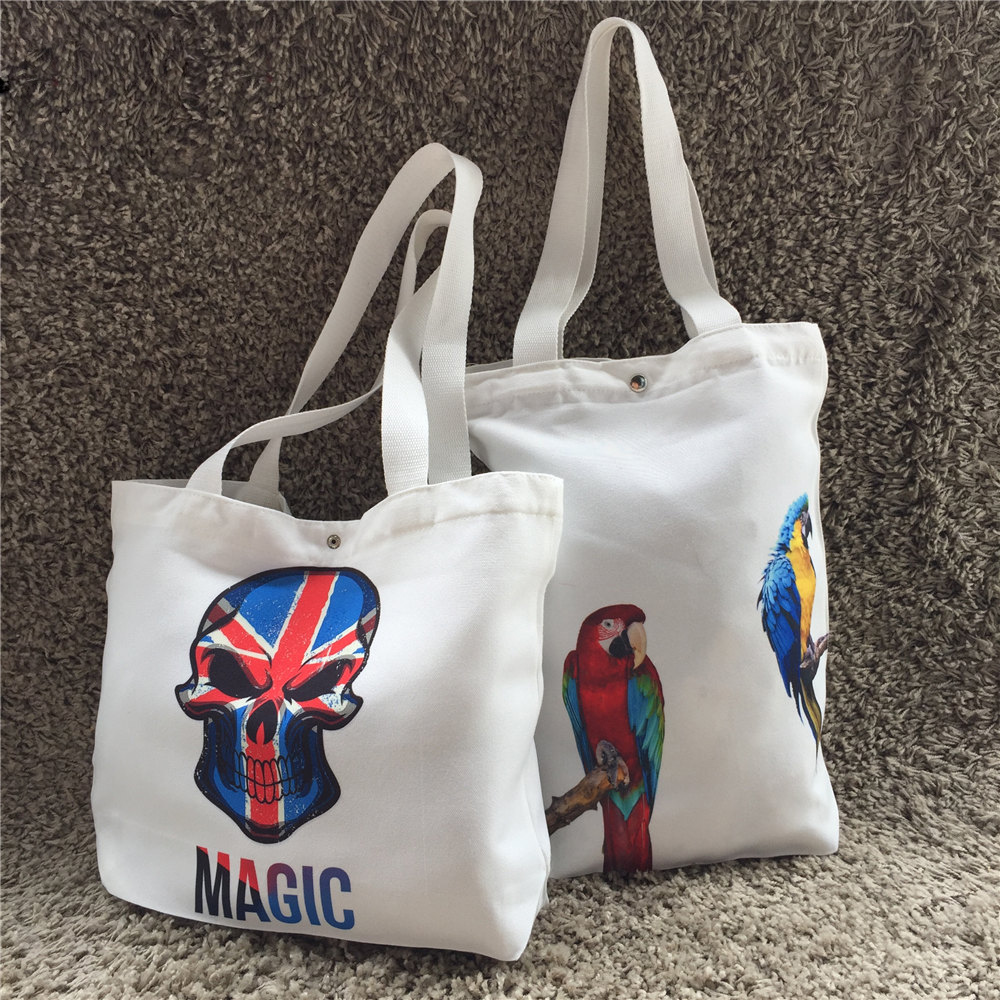 High Quality Pattern Blank Wholesale Fashion Lady Tote Custom Logo Solid Color Canvas Bag