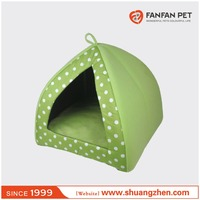 Yurt Pet Dog Cat Bed Indoor House Kennel With Plush Mat Pad