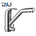 Modern Style Chrome Brass 3 Way Single Faucet Kitchen Mixer Taps Pure Water Filter