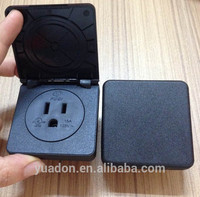 US waterproof socket/waterproof socket with cover/electric outlet cover