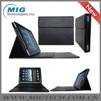 High end Leather Case for Ipad3 with keyboard, for ipad2 case, for ipad3 case