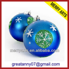 2016 hot new products homemade arts and crafts plastic ball christmas office ornaments decorations