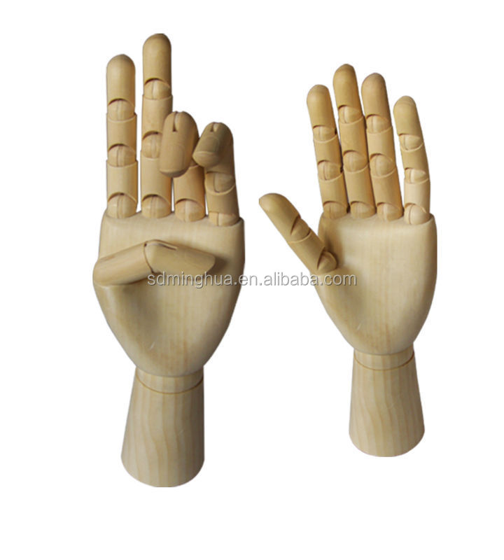 art model hands manikin wooden hand artist drawing manikin at different size
