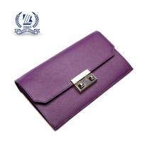 2016 fashion high quality clutch leather wallet lady