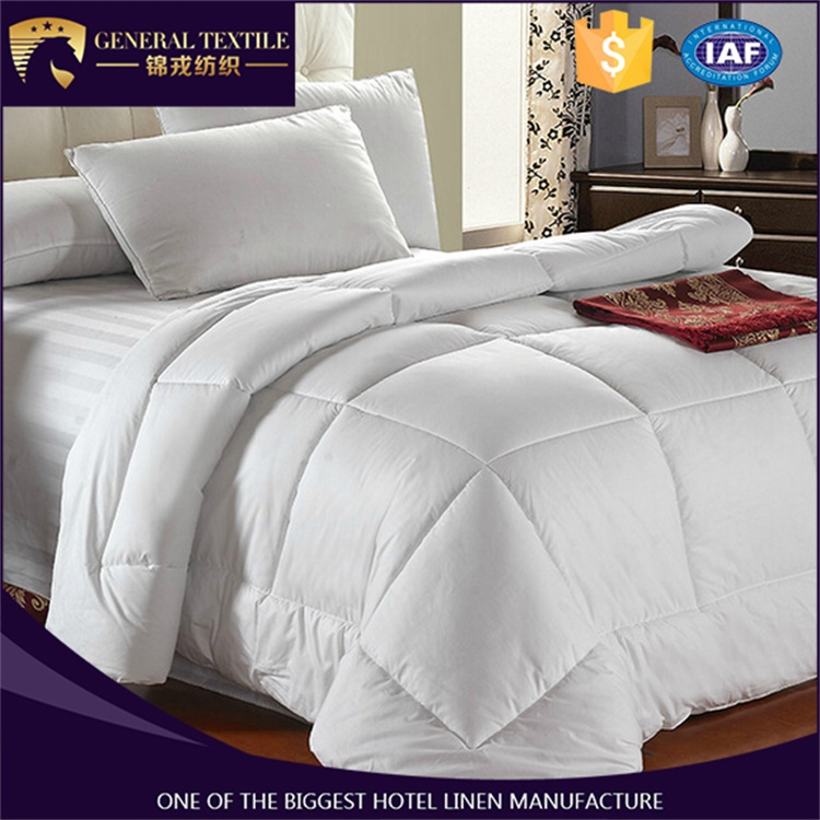 Luxury Hotel Textile 233T Cotoon Fabric Filled Best Microfiber Comforter Set King/Queen/Full Size