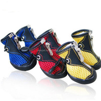 Eco-friendly new design pet air mesh summer boots dog boots mesh pet shoes nice footwear