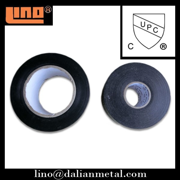 PVC adhesive pipe wrapping tape UPC approval