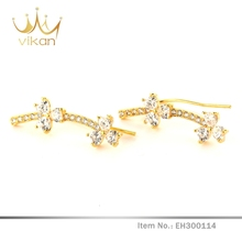 Dazzling top design luxury model of gold earring