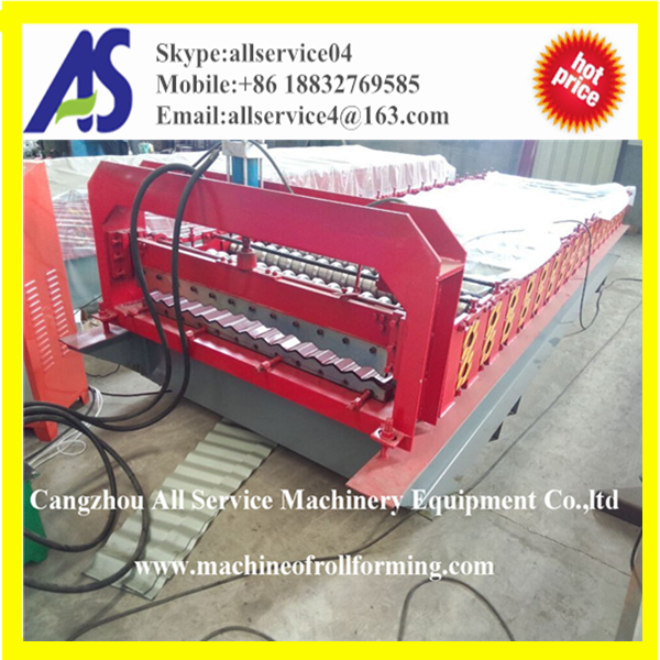 Corrugated step Metal Aluminum Sheet Steel Plate Panel Tile Roof Roll Forming Machine