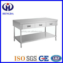 Kitchen Stainless steel work table with drawers