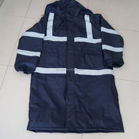 Hooded Blue Raincoat Mens Waterproof Raincoat