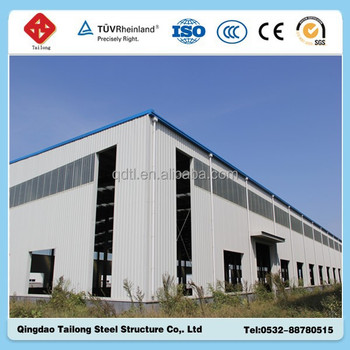 wide span steel structure building construction material