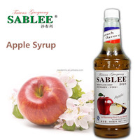 SABLEE apple flavor syrup for fruit juice with Halal 900ml
