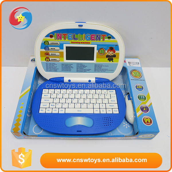 Most popular blue English 30 function childrens learning machine toys