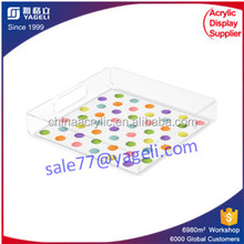 Square perspex cocktail serving tray hot sale acrylic tray