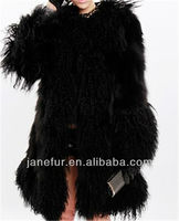 New collection noble mongolian lamb fur coat long sleeves keep warm in winter
