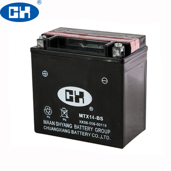 Dry Charged MF Motorcycle Battery YTZ14S 12V12Ah