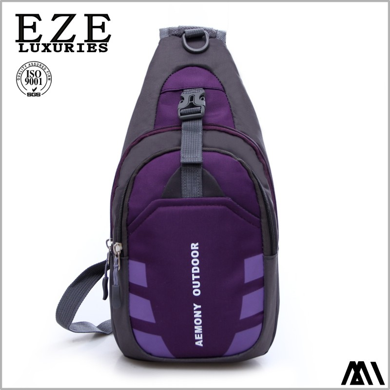 customized cross body bagpack nylon school chest bag for students