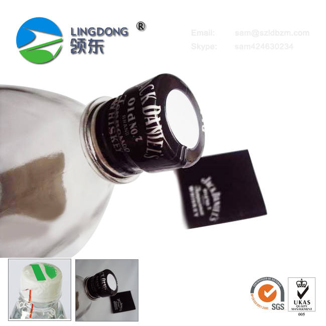 Custom LOGO print bottle cap shrink sleeve