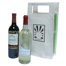 Jute Double Wine Tote Bag