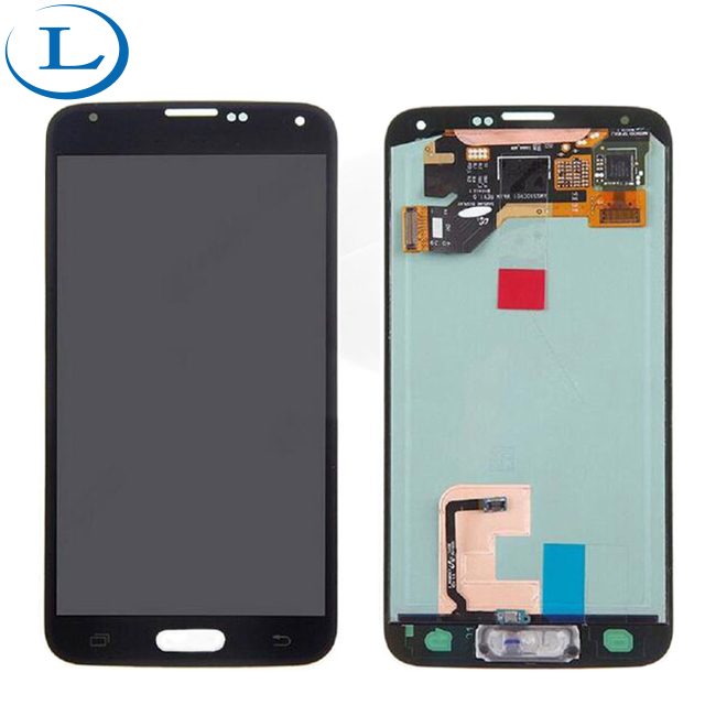 For Samsung galaxy s5 lcd digitizer assembly with frame screen touch lowest price replacement white and black