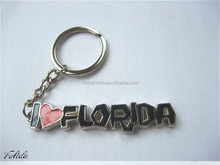 Custom Metal Alphabet Key Chain with Heart Shaped