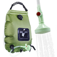 Hiking Climbing Camping Shower bag Solar Heating Shower Bag with Temperature Hose