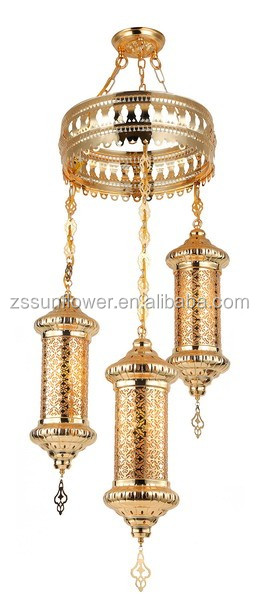 Arabic style 3 metal ball fancy pendant lighting