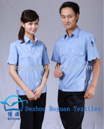 chinese fabric cheapest 40S cotton combed poplin policeman shirt fabric for garment