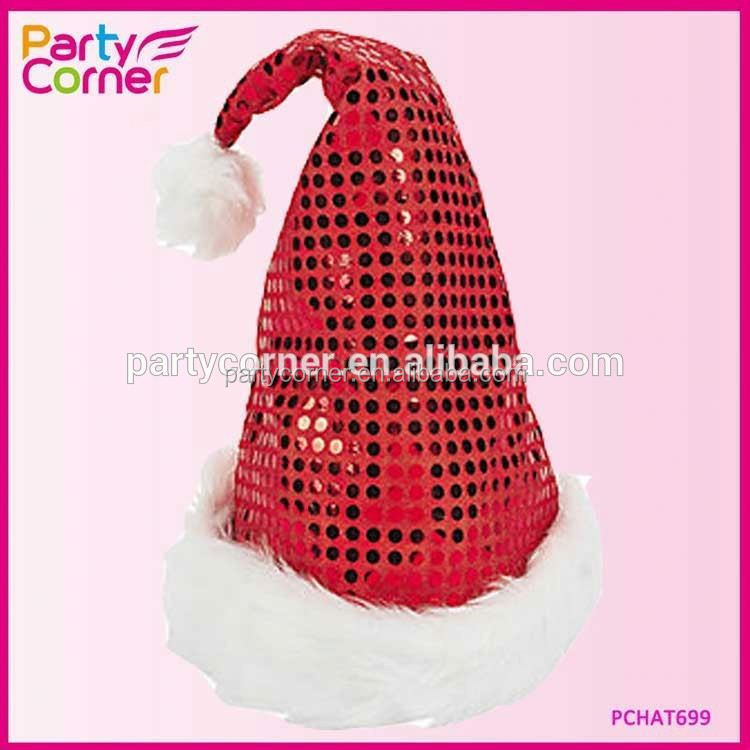 Sequin Sheen Santa Hat
