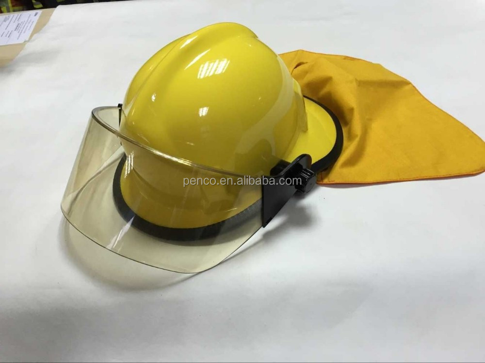 America used fire helmet /firemen protection helmets with neck protection