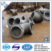 Customized DCI Pipe Fittings Zinc Painting with Bituminous Painting Double Flange 45 Degree Bend PN10 PN16 Water Utilities Use