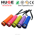 New designed in colorful plastic high quality promotional LED zoom flashlight super beam torch