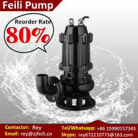 best submersible sewage pumps 4HP sewage ejector pump for dirty water