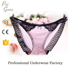 wholesale soft fashion sexy bikini satin girls G string panties for women
