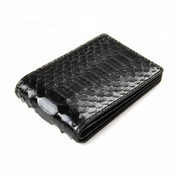 100% Origional Python Skin Men/Women Bifold Leather Wallet