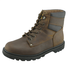 Crazy horse leather goodyear work safety boots