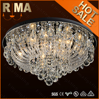2015 Modern glass cheap ceiling lamp RM936-600 with remote control&mp3