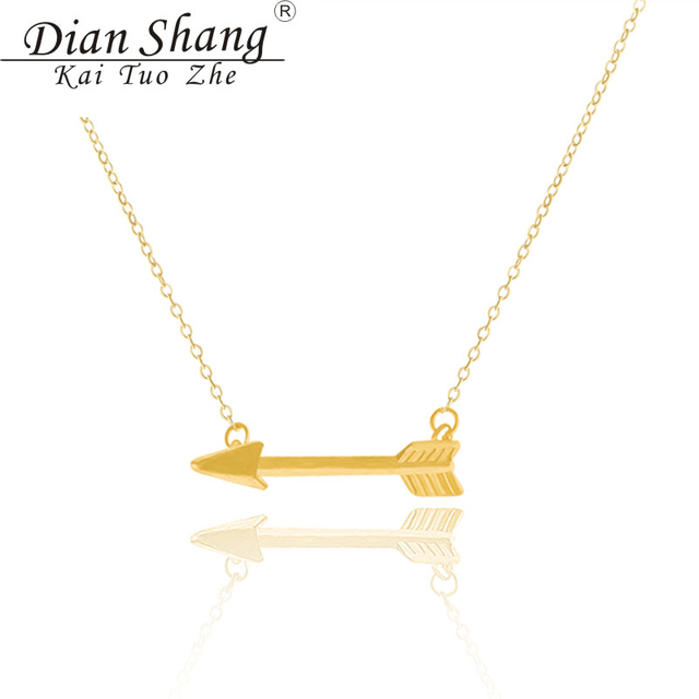 DIANSHANGKAITUOZHE Bff One Direction Arrow Necklaces Collares Choker Necklace Women Body Chain Colar Maxi Necklace Men Jewelry