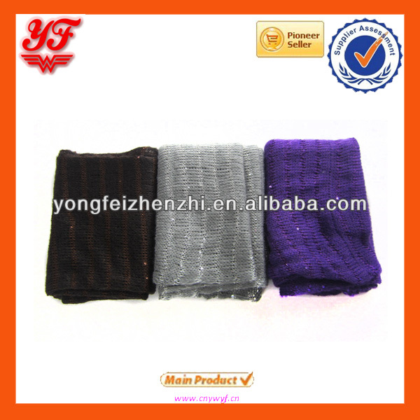 Knit neck and shoulder warmer with shining piece