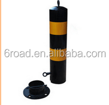 Yellow Black Steel PIPE removable Bollards